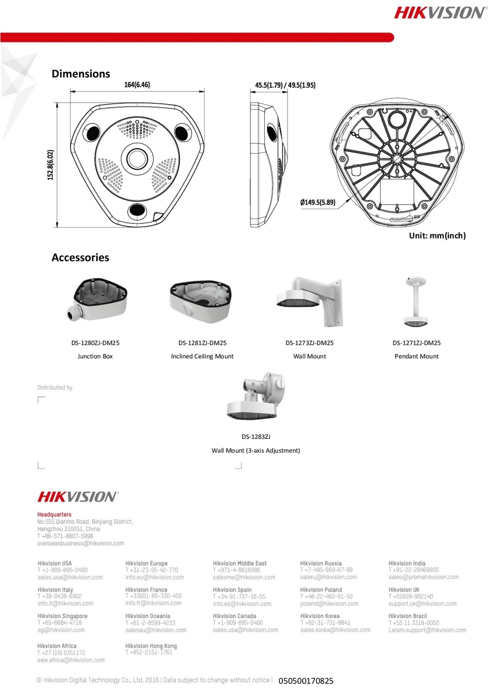 Hikvision DS-2CD6332FWD-I 3MP Indoor 360 Deg Panoramic Fisheye IR Camera 4