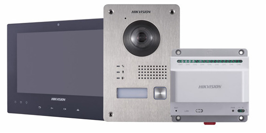 Hikvision DS-KIS701 2 Wire Video Intercom Kit - inc Door & Indoor