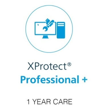 Milestone xProtect One Year Care Plus Subscription For Professional+ Device License