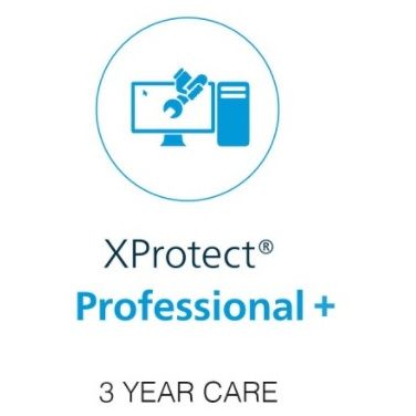 Milestone xProtect Three Year Care Plus Subscription For Professional+ Device License