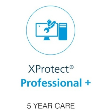 Milestone xProtect Five Year Care Plus Subscription For Professional+ Device License