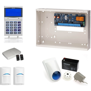 Bosch 6000 Alarm Kit, Keypad, Plug Pack, Battery, Siren Kit, RX, 2 x 4 Button Fobs & 2 x RF PIRs