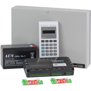 Inner Range Inception Controller Kit 2 with EliteX Keypad, 2 x OSDP Converters, Small Enclosure & Battery