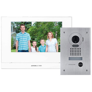 Aiphone JO 7 Video Intercom Kit, WiFi, Vandal Door Station, Flush Mount