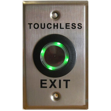 Touchless Exit Button, SS Plate, Illuminated, Water Resistant