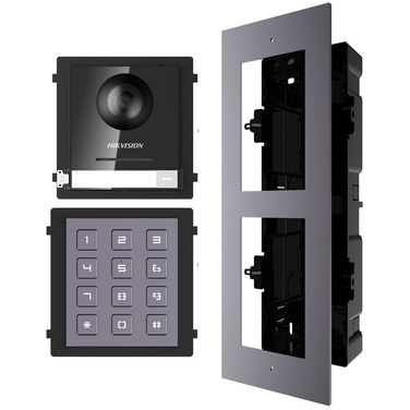 Hikvision 2nd Gen IP Intercom Kit, Door Station, Keypad Module & Flush Gang Box
